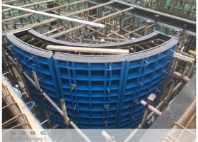 华湄118钢框木模清水混凝土模板体系